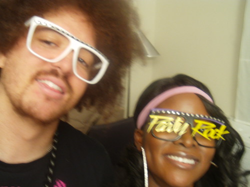 Party Rock: Red Foo of LMFAO and Abiola Abrams