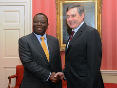 Gordon Brown and Morgan Tsvangirai
