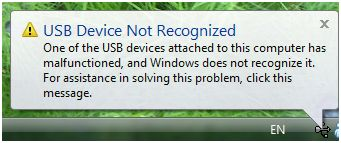 USB Device Malfunction