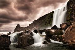 xarrfoss, Almannagj Canyon, ingvellir; Iceland (Corica) Tags: longexposure water rock landscape waterfall iceland nikon canyon geology foss ingvellir riftvalley tectonic d300 xarrfoss almannagj corica