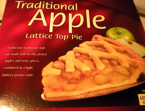 Frozen apple pie box