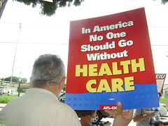 Health Care Rally for a Public Option in front...