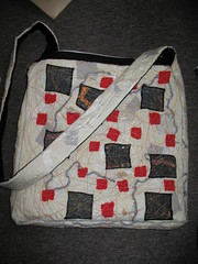 Finished black and white bag