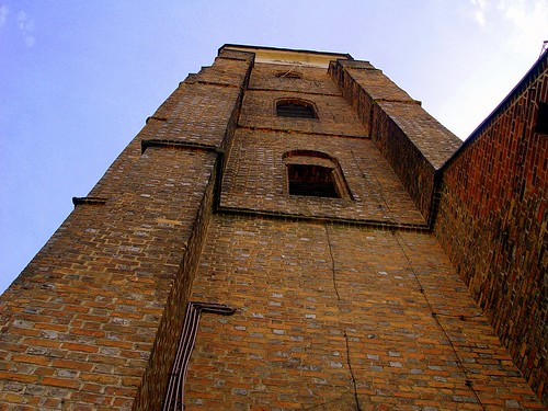 The Tower of St Lawrence Church in Wołów, Lower Silesia, Poland