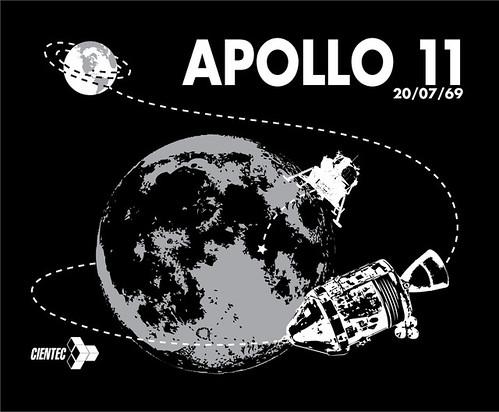 Camiseta celebración 40 aniversario de la llegada del ser humano a la Luna