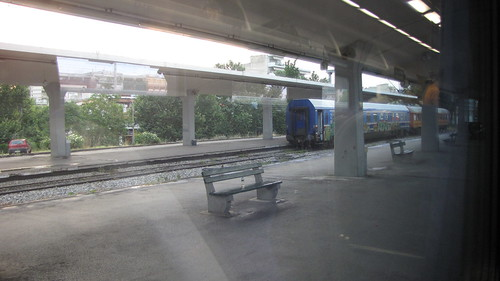View from the train to Athens