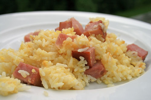 Totally Americanized: Ham and Cheese Fried Rice Recipe