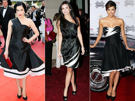 Siyah elbisede trendler