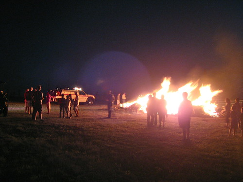 bonfire at EAoD show