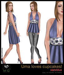 [MG fashion] Uma loves cupcakes! (slateblue)