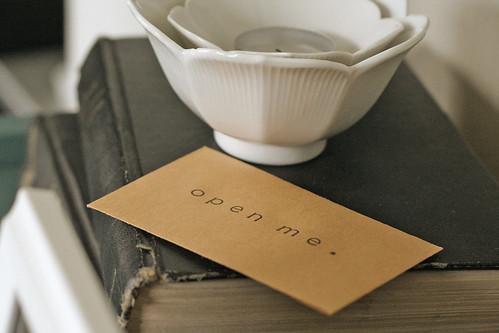 a secret note.