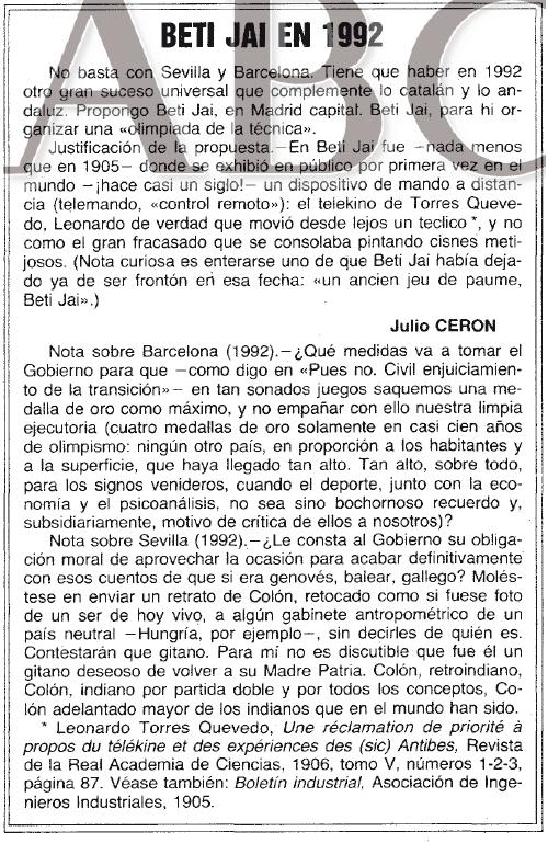Julio Cerón en el ABC