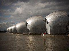 Thames Barrier (Miguel P) Tags: city uk travel vacation england holiday london water thames river landscape europe britain united greenwich great kingdom olympus barrier c8080wz