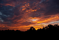 Sky on Fire (Stuart Sipahigil) Tags: sunset summer sky nature clouds landscape nikon d80 indurotripod