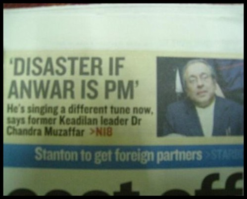 Disaster If Anwar is PM - Dr Chandra