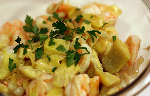 Shrimp Scampi with Artichoke Hearts