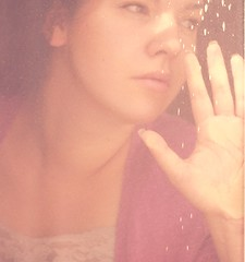 26/365 ({AndreaRenee}) Tags: door portrait woman me glass girl self vintage myself photography hand artistic andrea fingers mother smith chick wife sliding cardigan dirtywindow birdpoop longnails week26 creatve i project52 notexture andrearenee needtocut laceytanktop