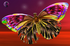 Fractalia Butterfly2 (dr_sequoia) Tags: sunset moon photoshop butterfly sensational fractal kpt concordians platinumheartaward flickrgt mallmixstaraward
