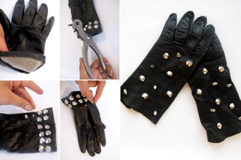diy studded gloves tutorial