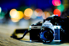 I love Bokeh (SSNNYY) Tags: life camera light color night 50mm nice aperture nikon focus colorful dof bokeh f14 large melbourne dot manual nikkor f18 simple fm2 ais austrlia dockland d90 f14g