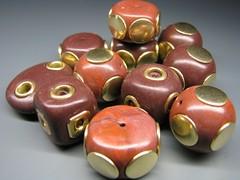 Beads (b.mariatheresia) Tags: brown beads handmade polymerclay polymer polymerclaybeads