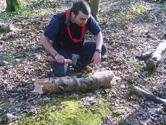 Axe Work (Merseyside Scouts) Tags: wood forest log cut spit axe chop tawdvale