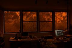 Sydney duststorm (Andy Burton Oz) Tags: orange color colour sydney australia drought nsw dust duststorm kuringgai roseville afsdxzoomnikkor1855mmf3556gedii
