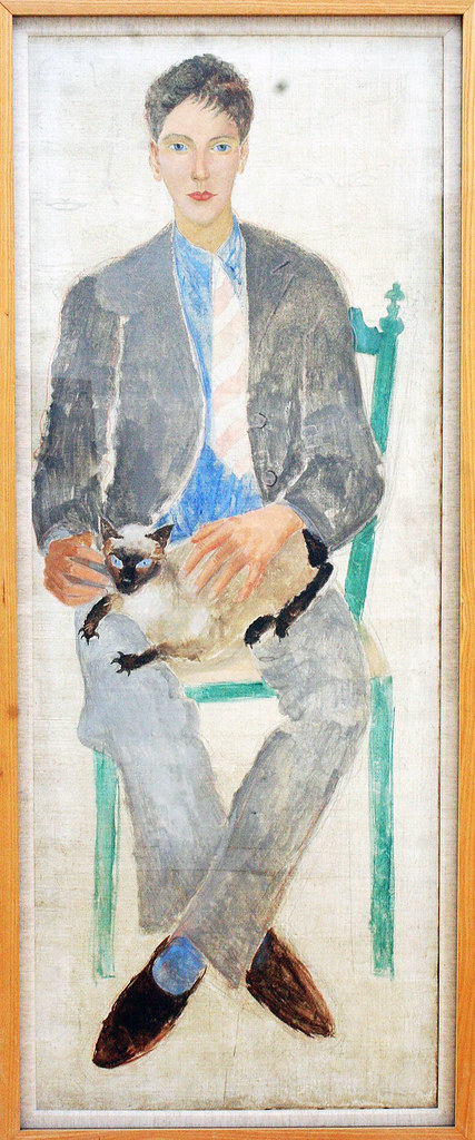 Boy with cat (Jean Bourgoint) 1926- Christopher Wood