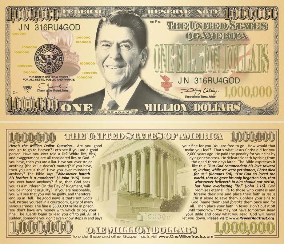 fake million dollar bill
