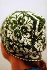 Hat Edith finished (osloann) Tags: ireland wool hat knitting merino traveller dk modified 100 edith stranded lue grnn ull strikking sanguinegryphon tradisjonelt mnsterstrikk borntoknit theloopeyewe skilue lue09