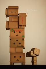 danbo玩danbo疊疊樂 (sⓘndy°) Tags: sanfrancisco toy toys box figure figurine sindy kaiyodo yotsuba danbo revoltech danboard 紙箱人 阿楞 amazoncomjp