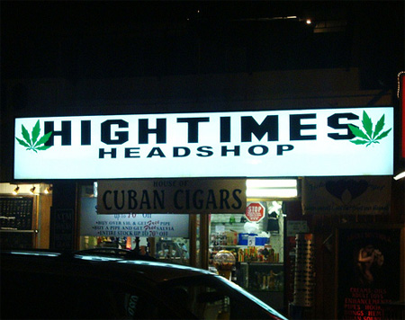 Hightimes: funny shop names
