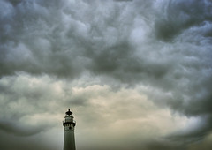 Keeping watch (James Jordan) Tags: sky lighthouse storm tower wisconsin clouds wow dark threatening hdr threat threaten windpoint abigfave wisconsinthunderstorms