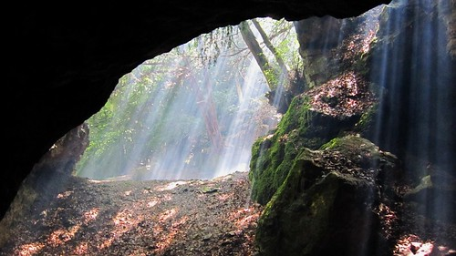 Cave light at Symonds Yat