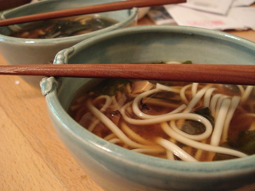 Udon in Cool Bowls