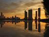 Miami sunset explosion -IV (iCamPix.Net) Tags: sunset canon landscape florida miami professionalphotographer miamidade downtownmiami 8468 markiii1ds miamireflection