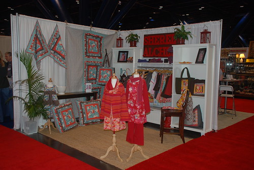 Sheree's Alchemy Booth at Houston Quilt Market by you.