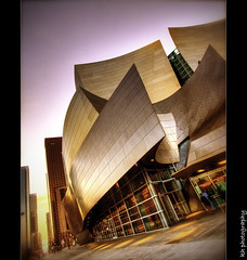music of  the autumn sky (kennymuz) Tags: new autumn sky architecture modern season design la hall concert twilight 5 no gehry disney concerto violin orchestra mozart hdr philharmonic disneyconcerthall canoneos50d fbdg kennymuz