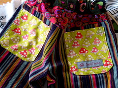 fall pants pair two (joontoons) Tags: cord clothing toddler pants handmade sewing stripes toadstools alexanderhenry joontoons