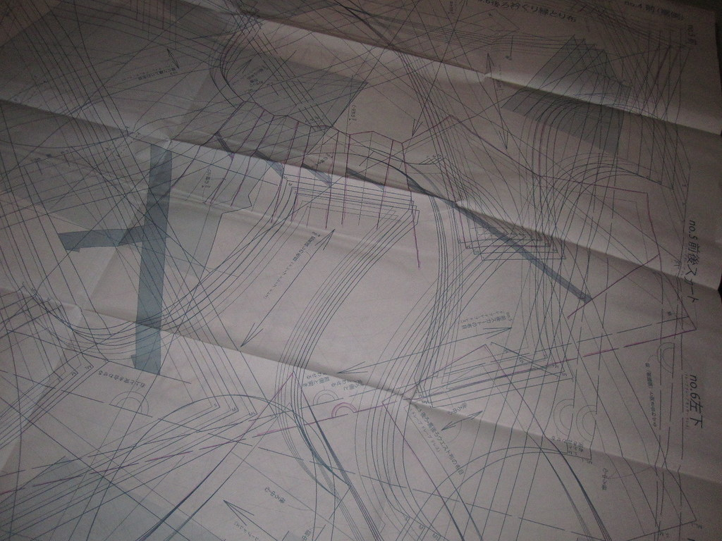 Pattern Sheet with Lines Marked