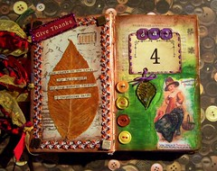 Day Four (The Tiquehunters Wife ( formerly Teeny Tiny Cabin)) Tags: thanksgiving art collage paperart handmade mixedmedia alteredbook decoupage