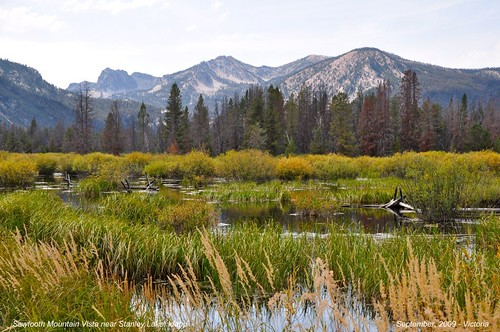 Scenic Sawtooth Mountains near Stanley, Idaho... - 5