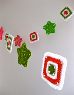 Crocheted Granny Star Garland