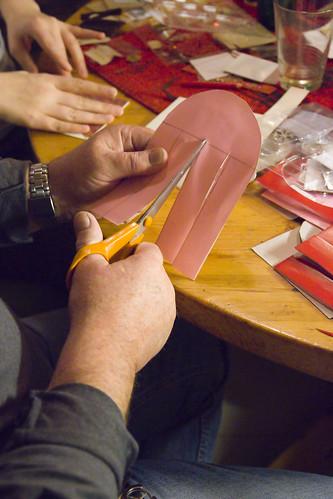 Julekurv - klipp ut fire like store strimler