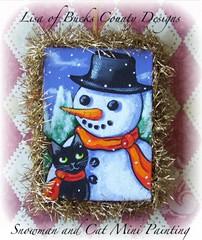 Lisa Nelson Ornie DP Nov 09 Snowman