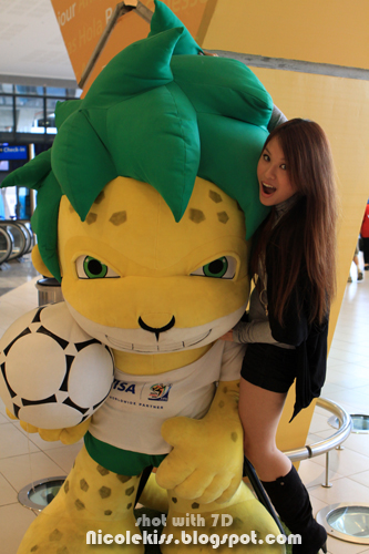 me and fifa world cup mascot