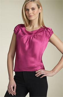 modelos de blusas de cetim 2011