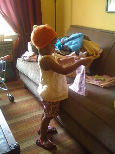 folding the laundry