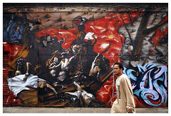 New York (Street art around the world) Tags: people usa streetart newyork color wall graffiti photo mural bronx streetphotography murals murales tats tatscru polillo robertopolillo peopleandstreetart