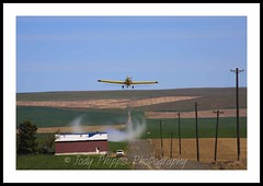Crop Duster (RU4SUN2) Tags: yellow plane canon airplane flying washington wings aviation airplanes farming spray crop ag duster agriculture propeller turbine prop turboprop spraying cropduster propjet airtractor